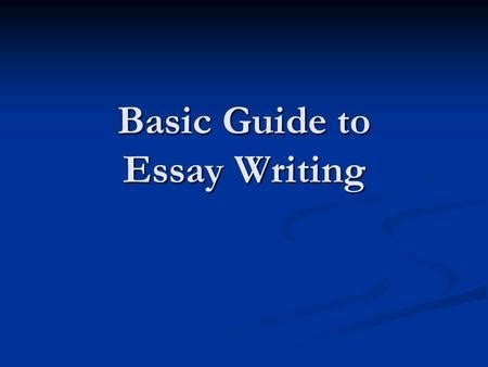 Introductions to Argumentative Essays